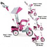 Rowerek trójkołowy dla rocznego dziecka Little Tikes Rowerek trójkołowy 4w1 Perfect Fit różowy
